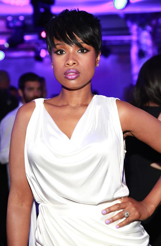 Jennifer Hudson poses at the X Versus Versace after party on Sunday, Sept. 7, 2014, in New York. (Photo by Amy Sussman/Invision/AP)