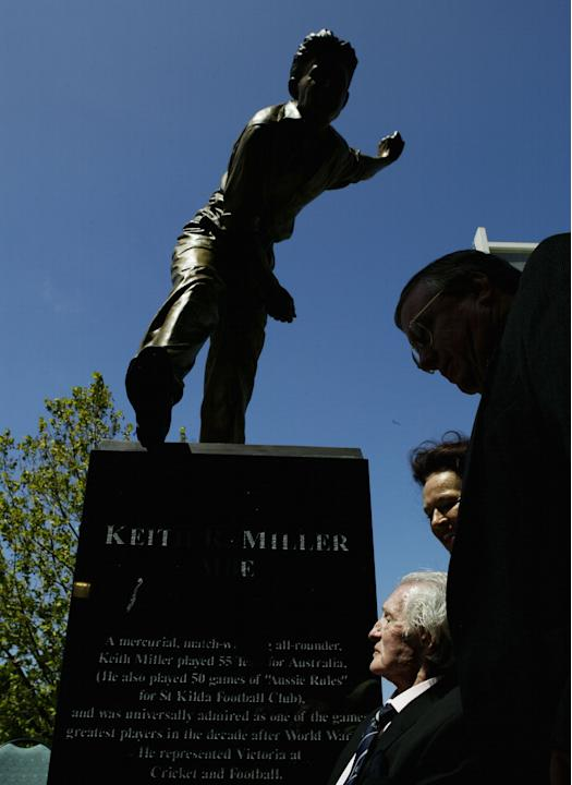 Keith Miller Statue Ceremony