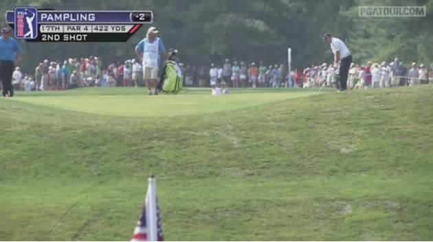 Pampling birdies No. 17 in Round 2 of AT&T National