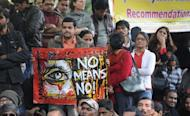 """Activists boycott India's Republic Day celebrations following the gang rape and murder of a student in New Delhi on January 26, 2013. Verdicts for five men accused of the fatal gang-rape of a student on a New Delhi bus would be handed down """"very soon,"""" a defence lawyer has said, as an application to relocate the trial failed"""