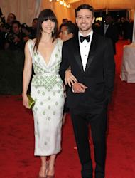 Jessica Biel and Justin Timberlake celebrate at engagement party