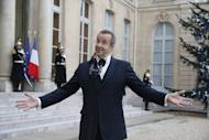 Estonian President Toomas Hendrik Ilves addresses the press outside Paris's Elysee Palace on January 7, 2013. A Twitter feud in June between the Estonian president and New York Times columnist Paul Krugman who questioned the impact of Estonia's austerity measures, is being turned into an opera, US composer Eugene Birman told AFP on Wednesday