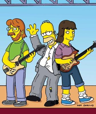 Homer (voiced by Dan Castellaneta) jams with the band Phish in the episode 'Weekend at Burnsie's.' Fox's The Simpsons