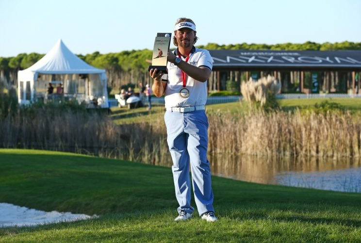Victor Dubuisson of France won the Turkish Airlines Open in November 2015. (Getty Images)
