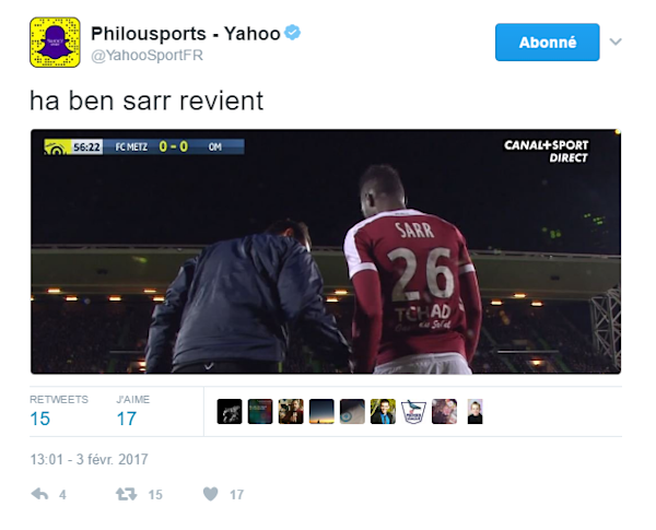 le top 10 des meilleurs tweets de metz om yahoo sport. Black Bedroom Furniture Sets. Home Design Ideas