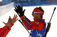 Biathlon - IBU World Championships - Men's 15km Individual - Hochfilzen, Austria - 16/2/17 - Lowell Bailey from the U.S.in action. REUTERS/Leonhard Foeger TPX IMAGES OF THE DAY