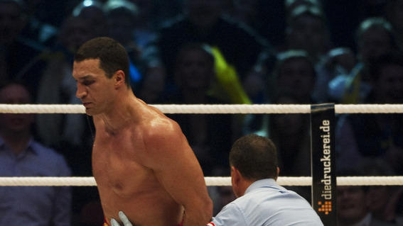 Ukrainian Heavyweight Boxing World Champion Wladimir Klitschko Knocks AFP/Getty Images