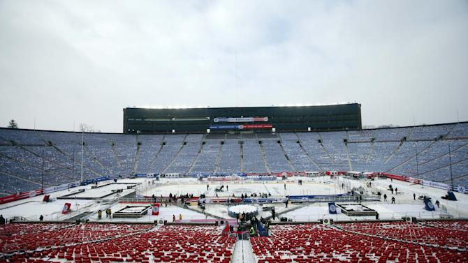 NHL: Winter Classic-Practice