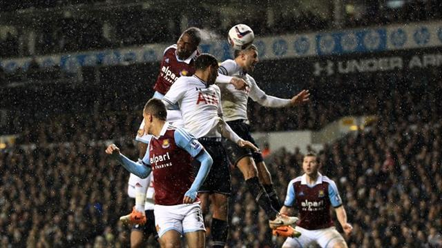 Football - Hammers dump Spurs out of cup