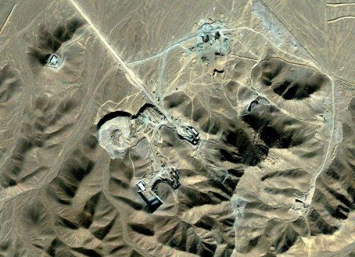 This satellite image made available to AFP in 2009 by Digitalglobe shows Iran's underground nuclear facility at Fordo, which is situated near the holy Shiite city of Qom. Explosive blasts destroyed power lines to Fordo last month, the head of Iran's atomic agency said at a meeting of UN atomic agency member states