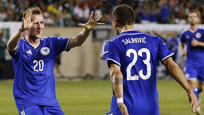 World Cup - Bright Bosnia ends Mexico's unbeaten run