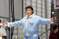 "Chubby Checker performs a free concert on July 9, 2010 in Philadelphia, Pennsylvania. A lawyer acting for Checker -- the musical legend behind ""The Twist"" -- has announced a lawsuit against tech-giant Hewlett-Packard for using the singer's name for a penis-measuring app"