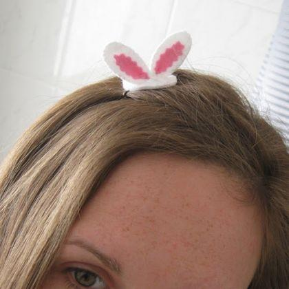 Tiny Easter Bunny Ears Hair Grip