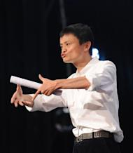 Jack Ma, head of Chinese Internet giant Alibaba, delivers a speech at his company's annual gathering of entrepreneurs in Hangzhou, in eastern China's Zhejiang province, in 2011. Alibaba is to re-purchase a 20-percent state in itself from US portal Yahoo! for at least $7.1 billion, according to the companies