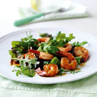 griddled prawns