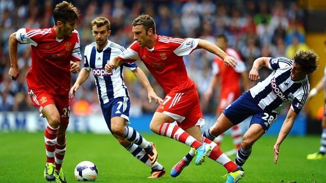 Premier League - Lambert hits late winner as Southampton beat West Brom