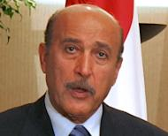 Egypt's former vice president Omar Suleiman, seen here in 2007, has died in the United States, according to the official MENA news agency. Suleiman was a long-time spy chief to deposed president Hosni Mubarak
