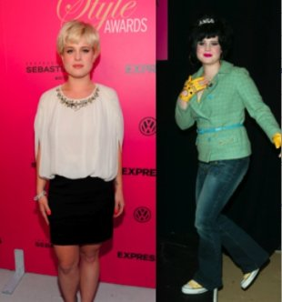 Kelly Osbourne in October and Osbourne in 2002, Getty Images
