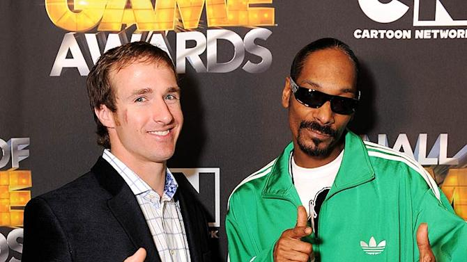 Brees Snoop Dogg Hall Of Game Awards