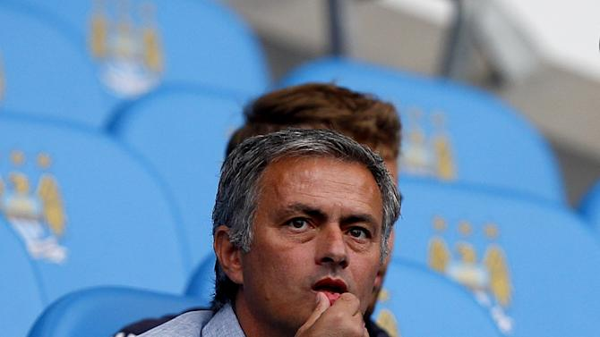 Jose Mourinho was in the stands to watch Manchester City's Premier League game against QPR earlier this season