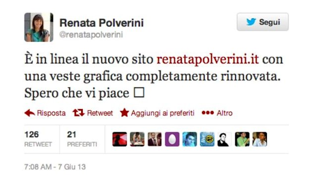 Renata Polverini (Photo Twitter)