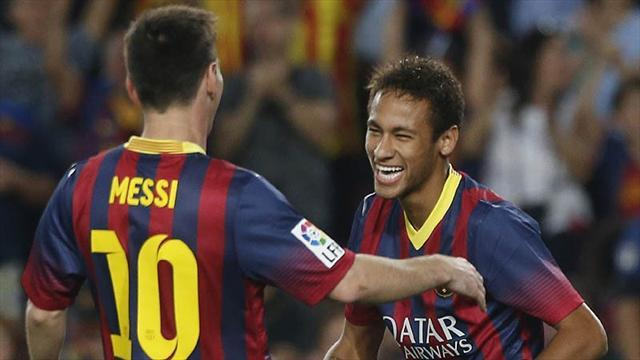 Liga - Neymar frustrating for Barcelona while Messi stars