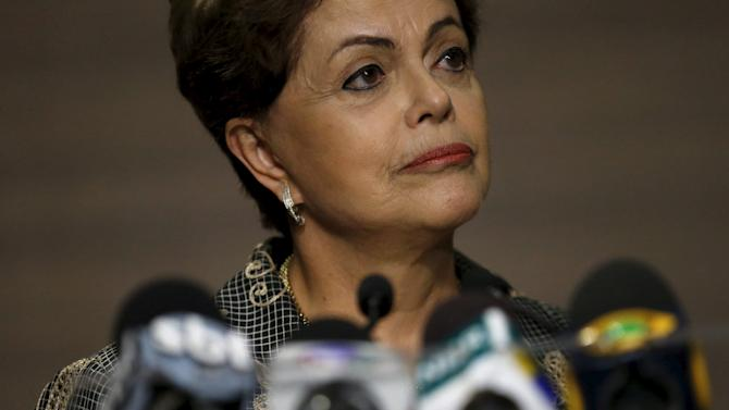 Rousseff attends a news conference in Mexico City