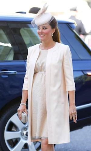 katCatherine, Duchess of Cambridge attends a service of celebration to mark the 60th anniversary of the Coronation of Queen Elizabeth II at Westminster Abbey on June 4, 2013 in London -- Getty Premium