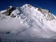 Mont Maudit (Cursed Mountain) where an avalanche swept away a group of European climbers on July 12, killing nine people. Nine candles burned on the altar of a church in the French Alps town of Chamonix on Saturday, one for each of the foreign climbers killed by an avalanche two days earlier