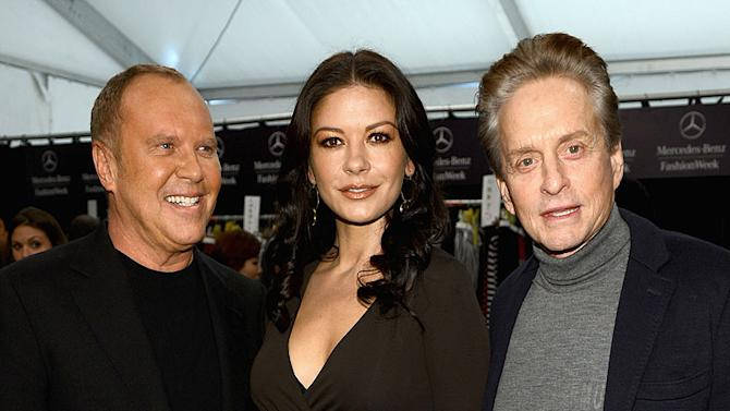 Michael Kors, Catherine Zeta-Jones, Michael Douglas