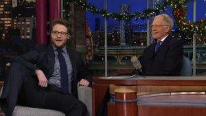 Seth Rogen Talks First Nude Photo on 'Letterman' (Video)