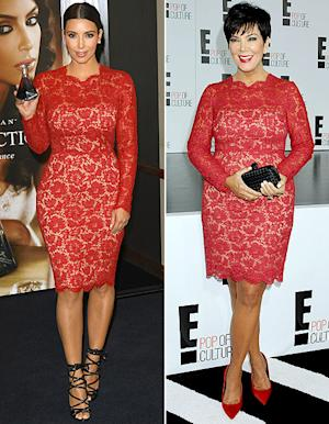 Kim Kardashian and Kris Jenner Wear the Same $3,690 Valentino Dress!