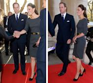 She's already impressed the fash pack with a chic Rebecca Taylor ensemble and now Kate Middleton is back for her second royal outing of the day