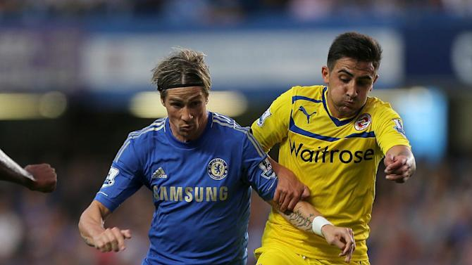 Reading's Jem Karacan, right, in action in the Premier League this season against Chlesea