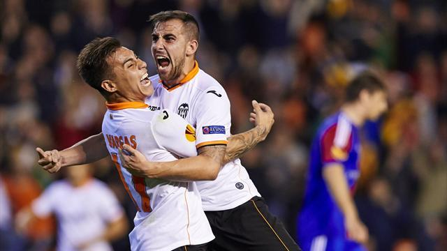 Europa League - Valencia complete incredible comeback against nine-man Basel