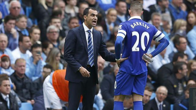 Premier League - Martinez laughs off Barkley Liverpool rumours