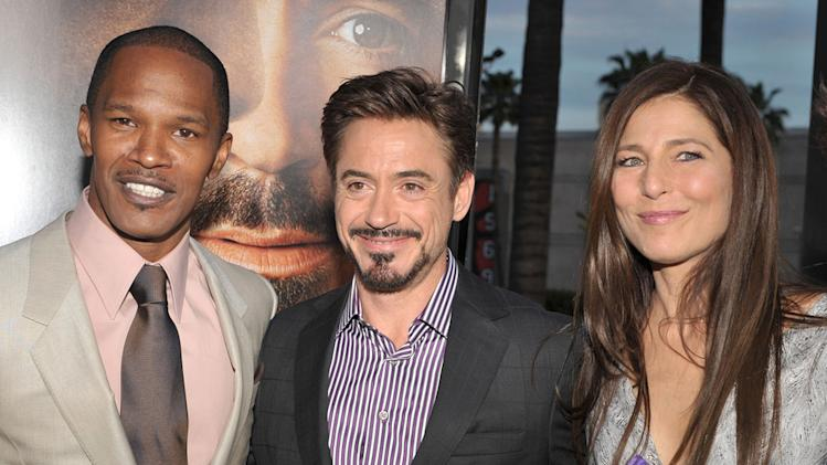 The Soloist LA Premiere 2009 Jamie Foxx Robert Downey Jr. Catherine Keener