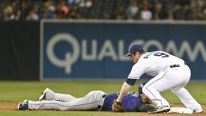 Wild pitch, throwing error gives Padres win