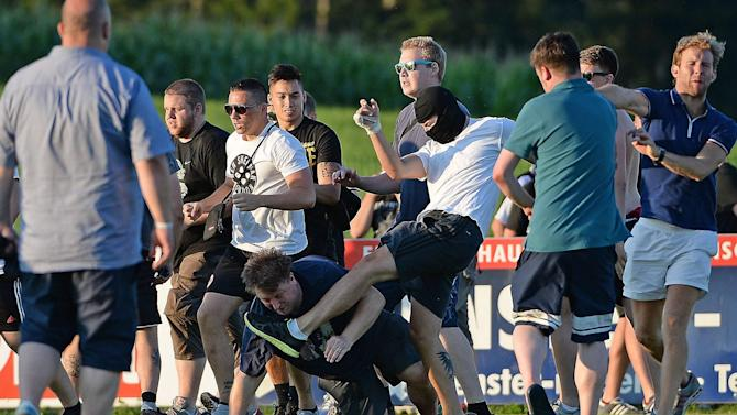 Championship - Leeds and Eintracht Frankfurt fans brawl after friendly