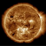 The Atmospheric Imaging Assembly on the Solar Dynamics Observatory captures images of the sun's corona. This image shows the 1.5 million-degree solar atmosphere and is taken at the start of the Hi-C sounding rocket observations. Released Jan. 2