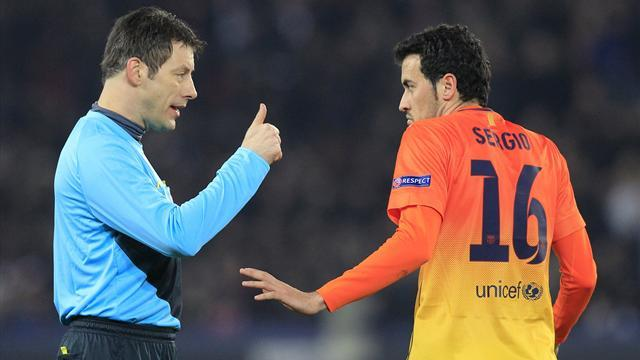 Champions League - Barca file complaint about refereeing at PSG