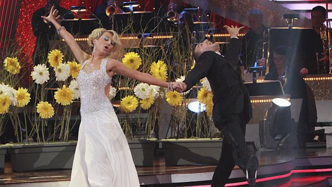 """Chelsea Kane and Mark Ballas perform the Foxtrot on """"Dancing with the Stars."""""""