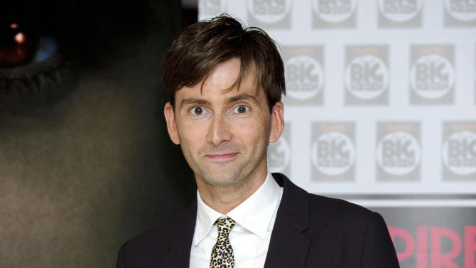 """FILE - In Thursday, Aug. 11, 2011 file photo, British actor David Tennant arrives for the UK premiere of Fright Night at a central London venue.  """"Doctor Who"""" star David Tennant is returning to the Royal Shakespeare Company this year to play a troubled king in """"Richard II."""" Tennant, who played the time-travelling hero of the beloved, long-running BBC sci-fi series for four years, starred in an acclaimed RSC production of """"Hamlet"""" in 2008. Artistic director Gregory Doran Wednesday, Jan. 23, 2013 announced details of other productions for late 2013, including adaptations of Hilary Mantel's historical novels """"Wolf Hall"""" and """"Bring Up the Bodies,"""" which focus on King Henry VIII's enigmatic powerbroker, Thomas Cromwell. (AP Photo/Jonathan Short, File)"""
