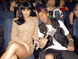 Kylie Jenner, Tyga Attend 2015 VMAs — See Their Red Carpet Style