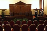 A cardinal waits in the hall of the Palace of the Tribunal before the opening of the Judicial Year of the Tribunal of Vatican City at the Vatican, January 11, 2014. REUTERS/Stefano Rellandini
