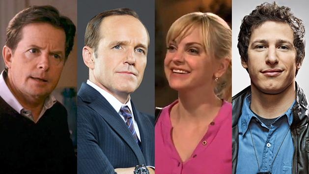 "Michael J. Fox in ""The Michael J. Fox Show,"" Clark Gregg in ""Marvel's Agents of S.H.I.E.L.D.,"" Anna Faris in ""Mom,"" and Andy Samberg in ""Brooklyn Nine-Nine."""