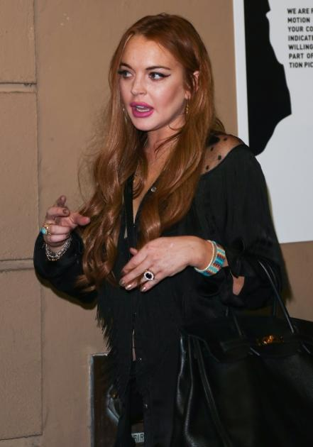 Lindsay Lohan attends the Will.i.am album wrap party at Avalon, Hollywood, on August 13, 2012 -- Getty Images