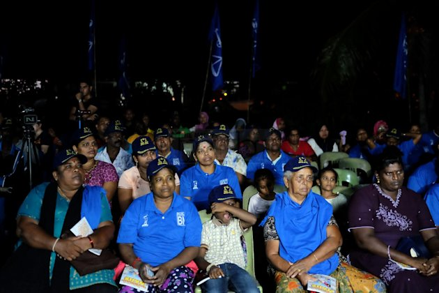 Part of the audience at the Barisan Nasional ceramah last night. – The Malaysian Insider pic by Afif Abd Halim, May 28, 2014.