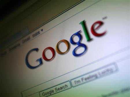 A photo of the Google Inc. logo is shown on a computer screen in San Francisco, California July 16, 2009. REUTERS/Robert Galbraith
