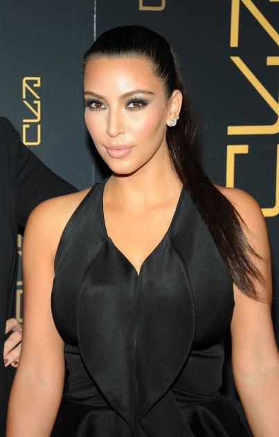 Kim Kardashian sports black at the RYU Restaurant Grand Opening in New York City on April 23, 2012 -- Getty Images